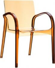 Thermo Plastic Dejavue Stacking Armchair - Amber